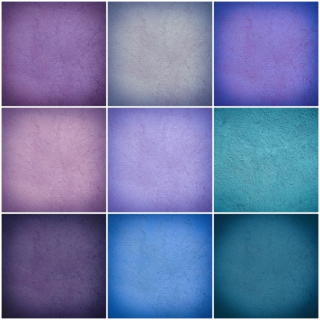 Set of different colorful wall collage photo