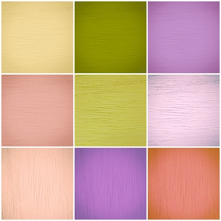 Set of different colorful wall collage Stock Photo