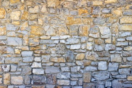 Part of a stone wall, for background or texture. Stock Photo - 21559590