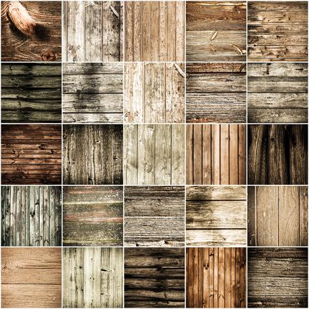 Het verzamelen van textuur achtergronden hout Stockfoto