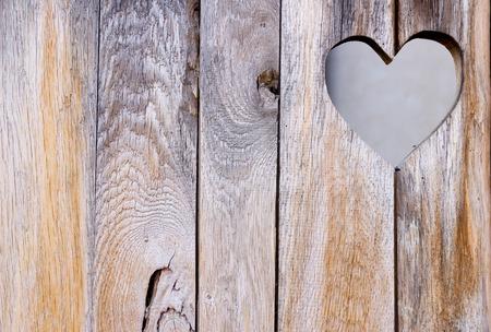 De houten deur met hart. Achtergrond