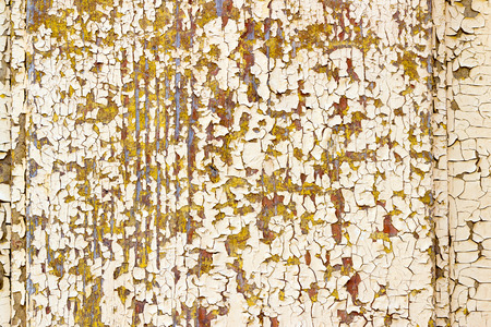 flaking: Old painted wood wall - texture or background