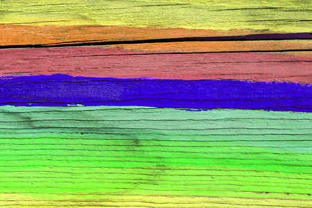 painted wood: Colorful painted wood wall - texture or background