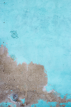 stucco: Stucco blue wall background or texture Stock Photo