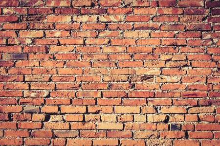 red brick wall: Background of red brick wall pattern texture.