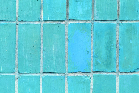 Background of blue brick wall pattern texture. Stock Photo