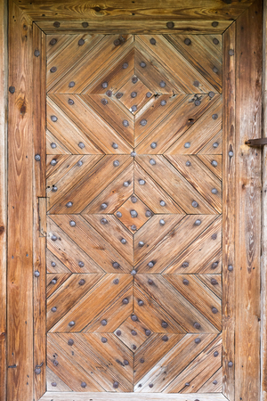 The old wooden door. Background Stock Photo
