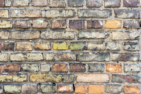 Background of old brick wall pattern texture. Archivio Fotografico - 125290349