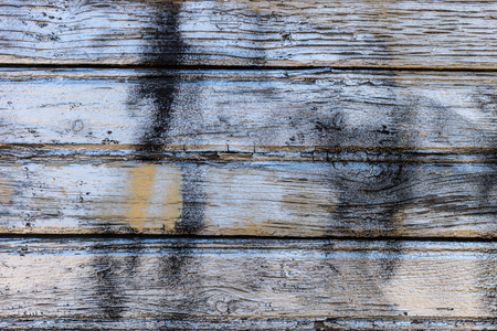 Old painted wood wall - texture or background. Archivio Fotografico - 125290350