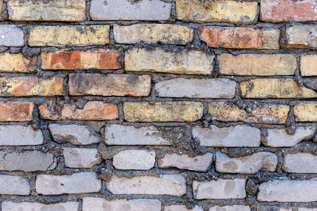 Background of old brick wall pattern texture. Archivio Fotografico - 125290351