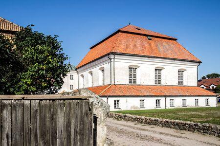 TYKOCIN, POLAND - SEPTEMBER 14, 2014: Baroque Jewish Synagogue in Tykocin.