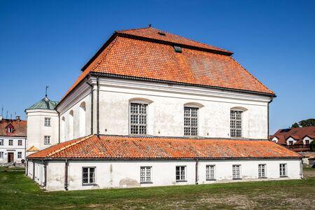 TYKOCIN, POLAND - SEPTEMBER 14, 2014: Baroque Jewish Synagogue in Tykocin