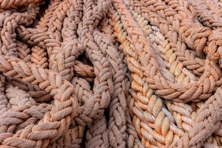 A photo of a ships rope for use as a background.