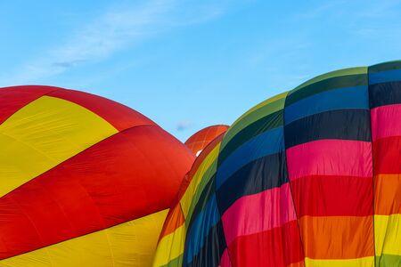 A colorful hot air balloon.