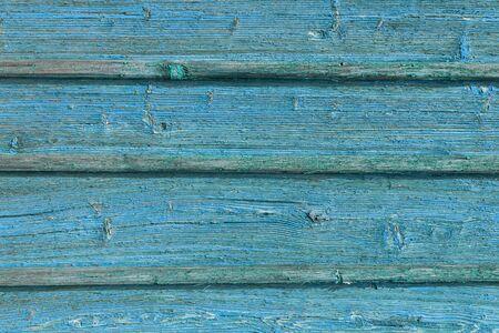 自然な模様の古い青い木の質感。