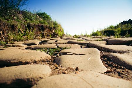 empedrado: Antigua carretera nacional pavimentada.