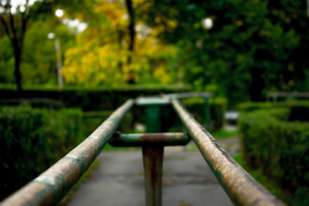 balustrade: Balustrade on a alley in a park