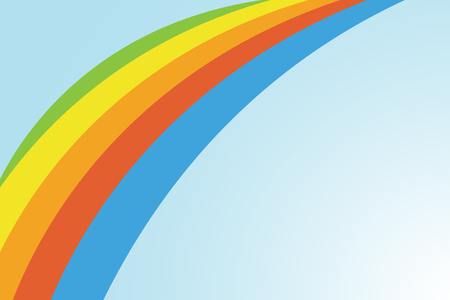 Rainbow colors on a pale blue background