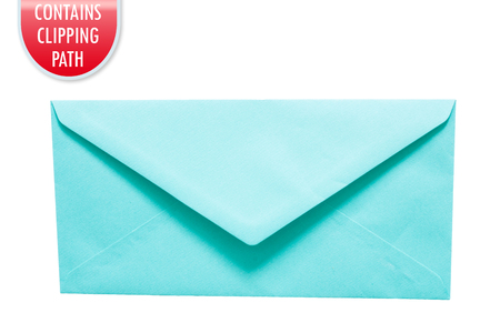 Envelope isolated on white with clipping or working path