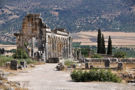 volubilis: Volubilis is the best preserved Roman site in Morocco  It was declared a UNESCO World Heritage