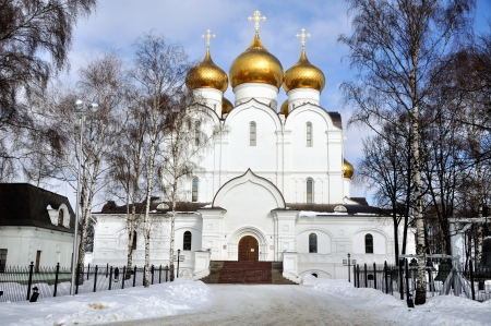 The Uspensky Cathedral in Yaroslavl, Russia in Winter photo
