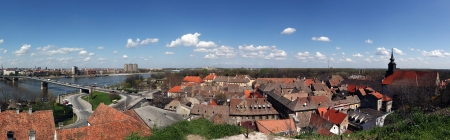 Panoramic view from the Petrovaradin Castle of Novi Sad, Serbia