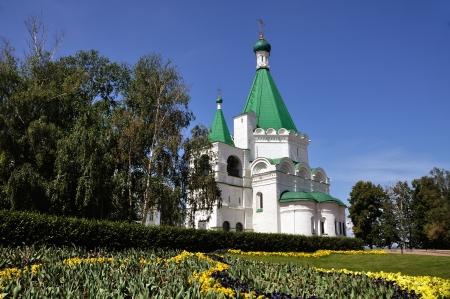 novgorod: Assembly of the Archangelsky - Church of Nizhny Novgorod, Russia Stock Photo