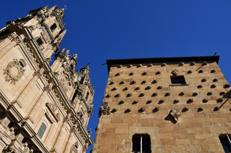Universidad and Casa de las Conchas in Salamanca, Spain. Editorial