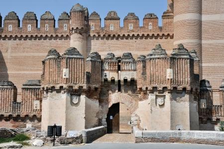 segovia: Castillo de Coca towers, Segovia, Spain