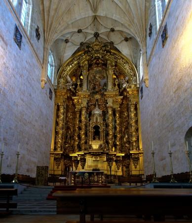 Interiors of St Stephen Convent - Main Altar, Salamanca, Spain. Editorial