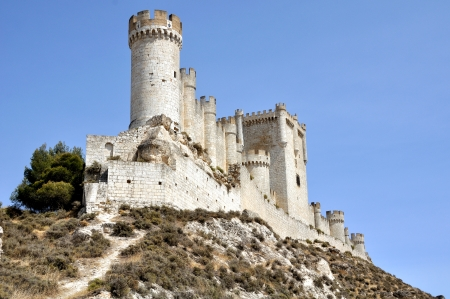 Penafiel Castle, Valladolid, Spain created in the 10th century and located at the Hill