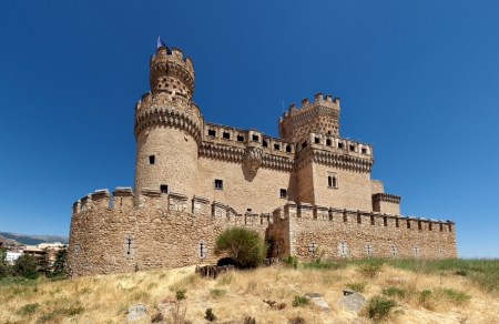 Castle of the Mendoza in Manzanares el Real, Spain