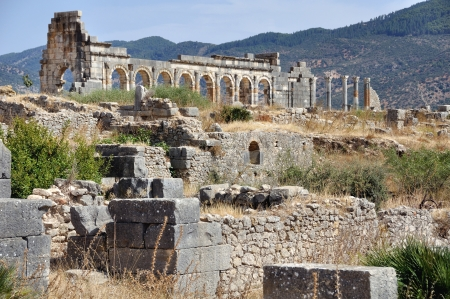 Volubilis is the best preserved Roman site in Morocco. photo