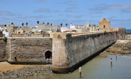 fortified: Aerial view of the Portuguese Fortified City of Mazagan, Morocco