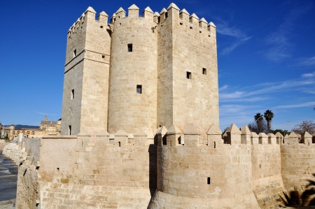 Torre de la Calahorra is a fortified gate to protect the bridge in Cordoba, Spain