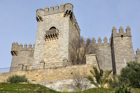Towers of Castle of Almodovar del Rio, Cordoba, Andalusia, Spain