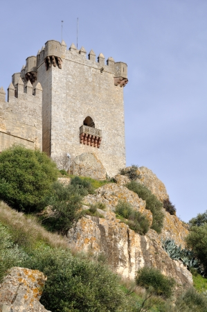 Tower of Castle of Almodovar del Rio, Cordoba, Andalusia, Spain