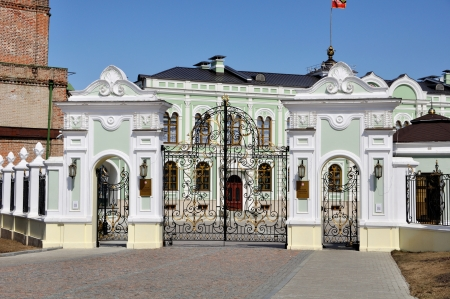 Gates to President Residence in Kazan Kremlin, Republic of Tatarstan, Russia Stock Photo - 18966415