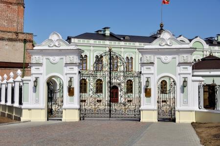 eclecticism: Gates to President Residence in Kazan Kremlin, Republic of Tatarstan, Russia