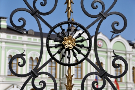 Close view of Gates to President Residence in Kazan Kremlin, Republic of Tatarstan, Russia Stock Photo - 18966427