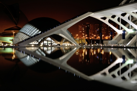 Night view of City of Arts and Sciences, Valencia