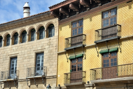 spanish village: Poble Espanyol in Barcelona, Spain - Reconstruction of Spanish Village