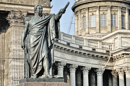 Monument to Barclay de Tolli at the Kazan Cathedral, Saint Petersburg, Russia photo