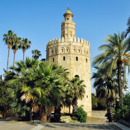 ラ トーレ ・ デ ・ オロ タワーのゴールド、建てられた 1220年セビリア, アンダルシア州, スペインのムーア人によって 写真素材 - 22662612