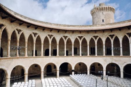 Interior of Bellver Castle in Palma de Majorca, Spain