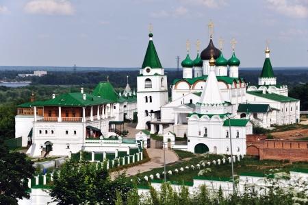 novgorod: Monastery in Nizhny Novgorod, Russia in summer
