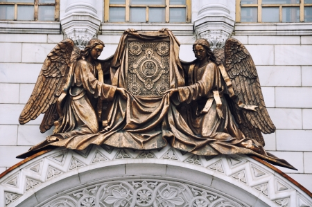 Detail of Cathedral of Christ the Savior, Moscow, Russia