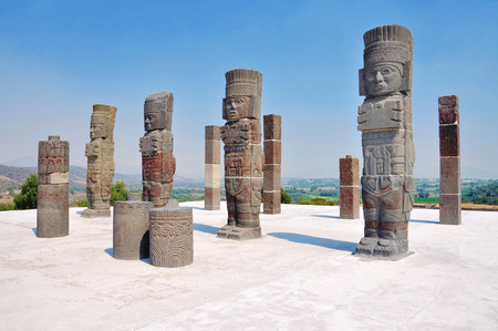 Toltec Warrior Sculptures in Tula, Mexico