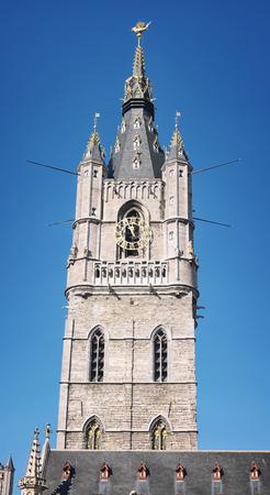 belfry: Belfry of Ghent, Belgium  Close view