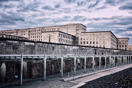 Remains of the Berlin Wall located at Topography of Terror museum in Berlin, Germany